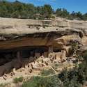 Cliff Palace was home to about 100 Pueblo Indians. It was abandoned after a long period of failing crops, drought, and over-hunting