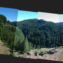 My poor job at stitching canyon view panorama