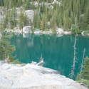 Colchuck Lake's emerald waters