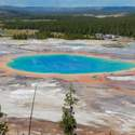 Grand Prismatic Spring from the hill