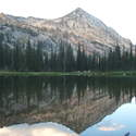 Campsite at Cached Lake with Needlepoint Peak above