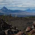 Mt. Washington and 3 Fingered Jack from the lava fields