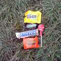 Halloween candy, the best part of hiking with your kid a week after Halloween!!