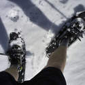 Nothing like shorts-snowshoeing weather.