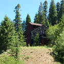 Abandoned mine building at the end of the hike