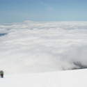 Hood above the clouds
